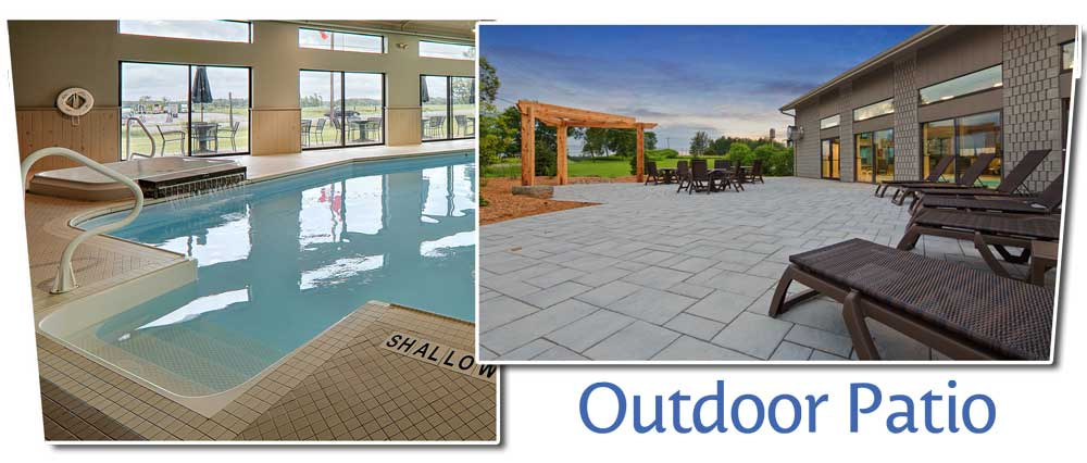 Indoor Salt Water Pool, Hot Tub & Outdoor Patio