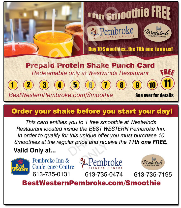 Introducing the Prepaid Protein Shake Punch Card