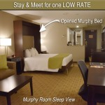Murphy Suite- Expandable Bed Opened