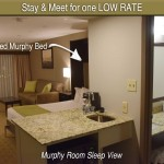 Murphy Suite Opened Bed View