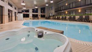 Enjoy a Soothing Salt Water Indoor Swimming Pool