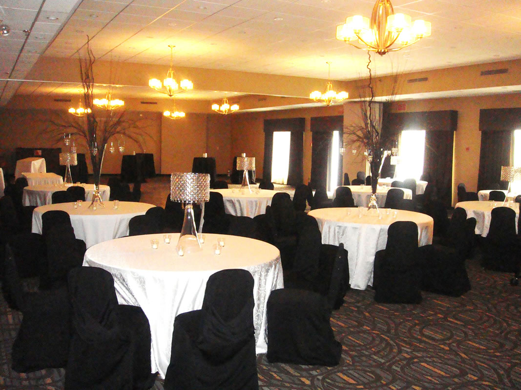Wedding Set up with Round Tables in the Martin Campbell Room