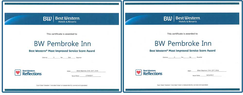 PRESS RELEASE: Award Winning Hotel in Pembroke