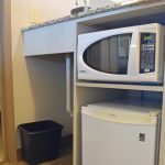 Fireplace Queen Microwave Oven and Fridge