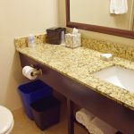 Fireplace Queen Bathroom Granite Counter