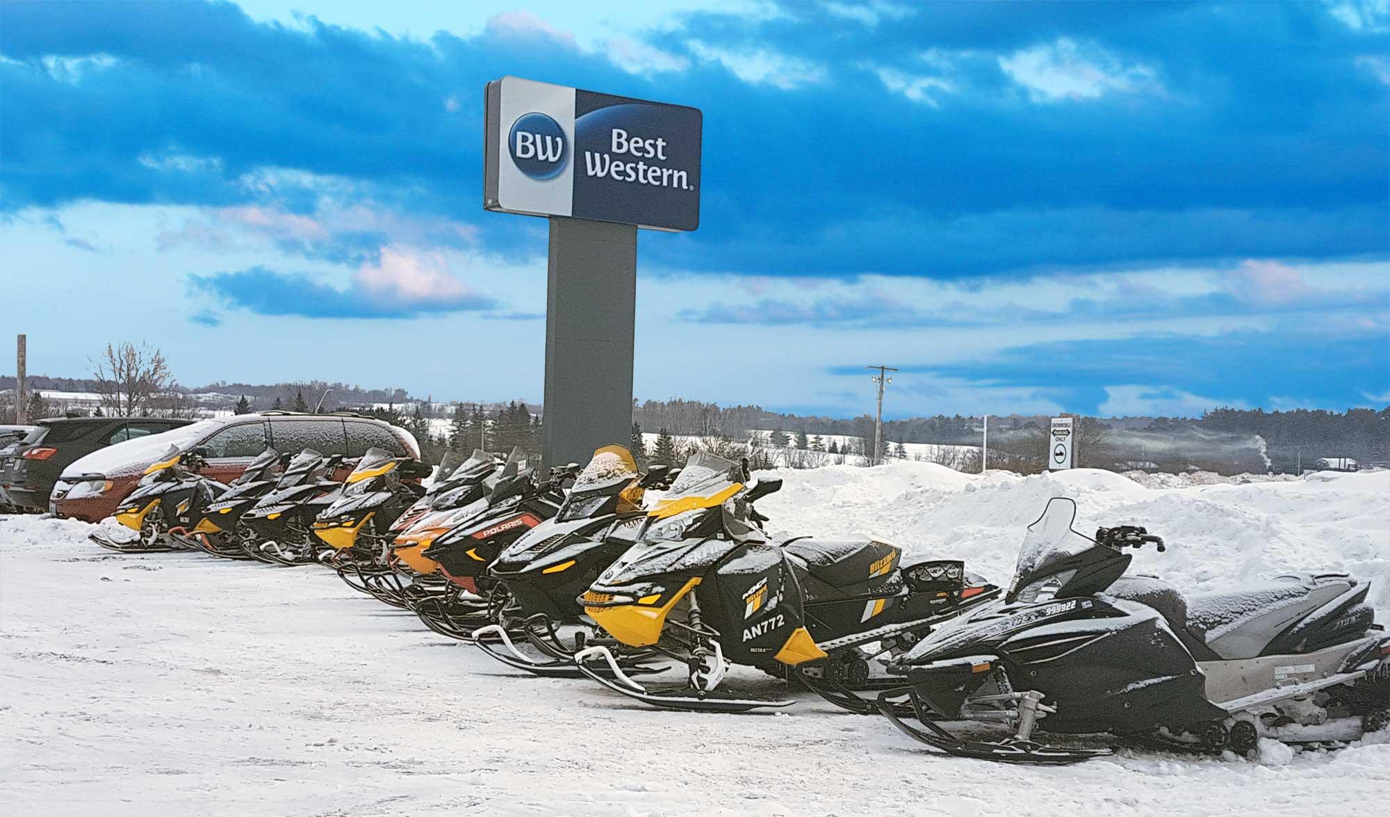 Snowmobilers Choose Best Western Pembroke Inn