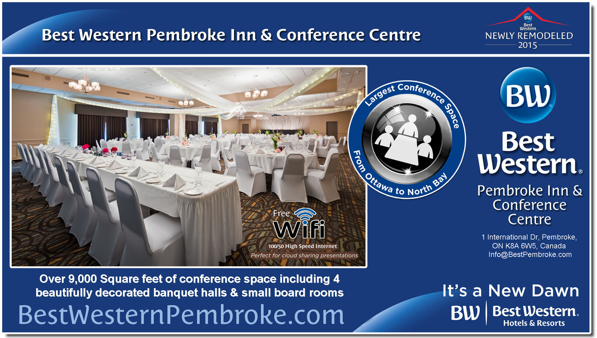 Over 9,000 Square Feet of Conference & Banquet Space