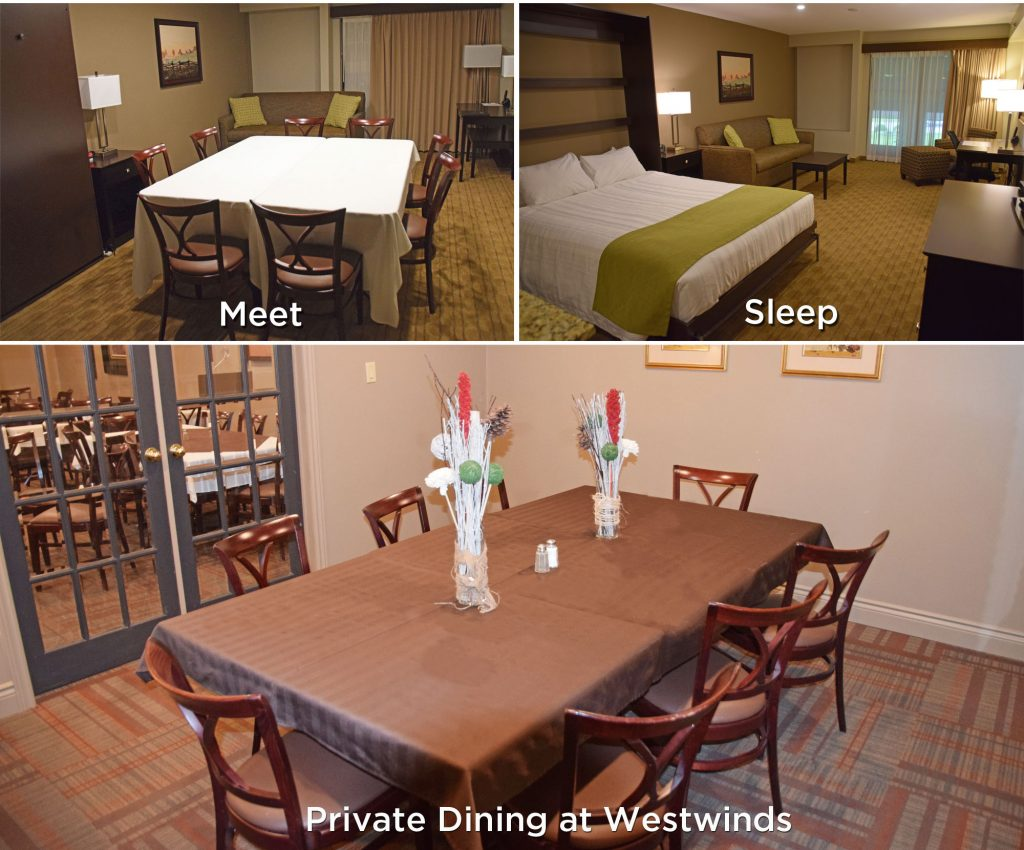 Murphy bed meeting room and Westwinds