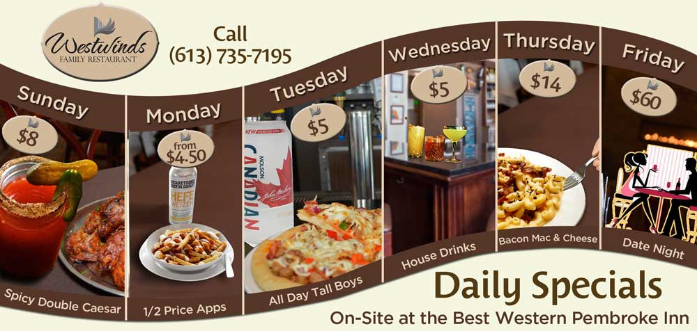 Join us at Westwinds Restaurant