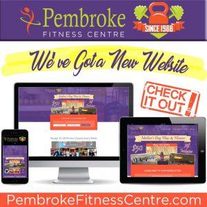 Pembroke Fitness Centre has a new responsive website