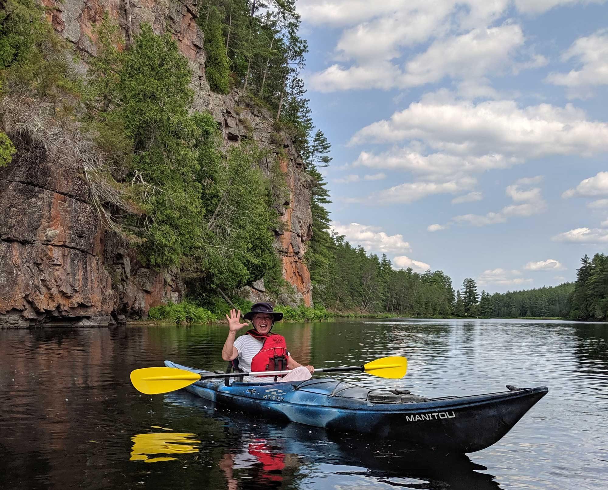 Exploring Barron Canyon kayaking