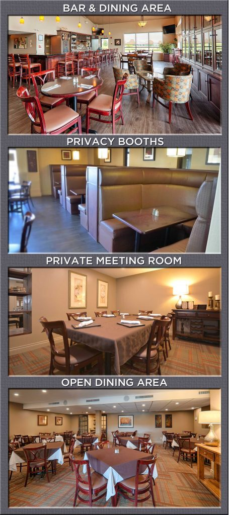 Restaurant and Private Dining Areas