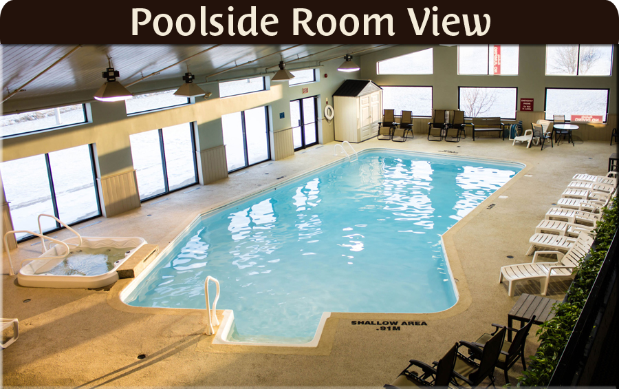 Directly access the indoor pool from your hotel room