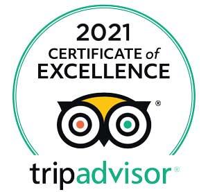 Winner: 2021 Trip Advisor Certificate of Excellence.